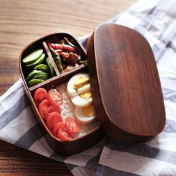 Japanese Bento Boxes Wood Lunch Box Handmade Natural Wooden