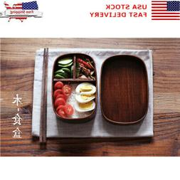 Japanese-style natural Wood grain wood lunch box,wooden Bent