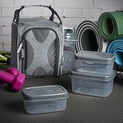 Fit & Fresh Jaxx FitPak Sport Insulated Meal Prep Lunch Bag