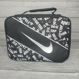 Nike Kids Lunch Box Black JUST DO IT Black White Insulated B