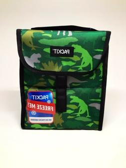 Kids Lunch Box Green Dinosaur PackIt Freezable Lunch Bag Bra