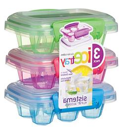Sistema Klip It Accents Collection Set of 3 Ice Cube Trays w