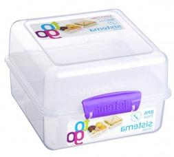 Sistema Klip It Lunch Cube to Go Containers with Color Accen