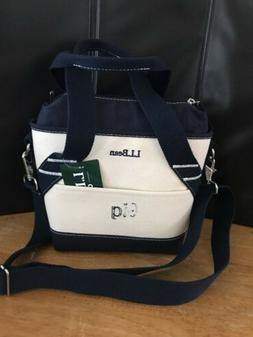 "L.L.Bean insulated tote small lunch boxes blue canvas 7""H x"