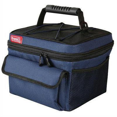 Coleman 10 Can Rugged Lunch Box Cooler - Blue - Black Rugged