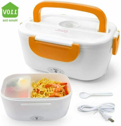 110V Portable Electric Heating Lunch Box Food Warmer Heater