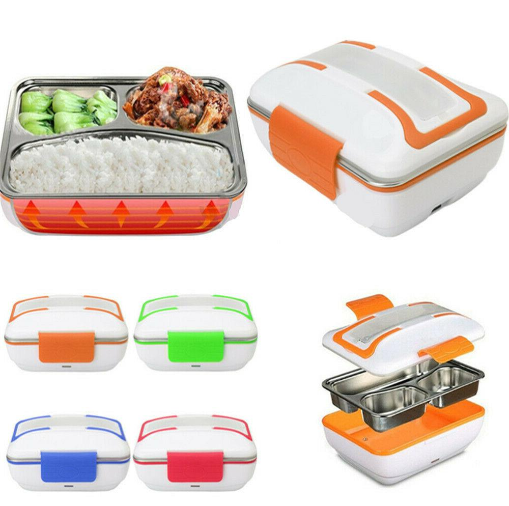 110V/12V Electric Heating Lunch Box Food Heater Portable Lun