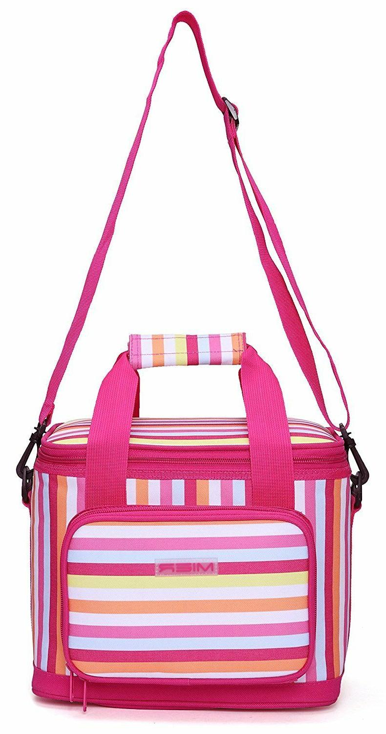 16 can large insulated lunch bag