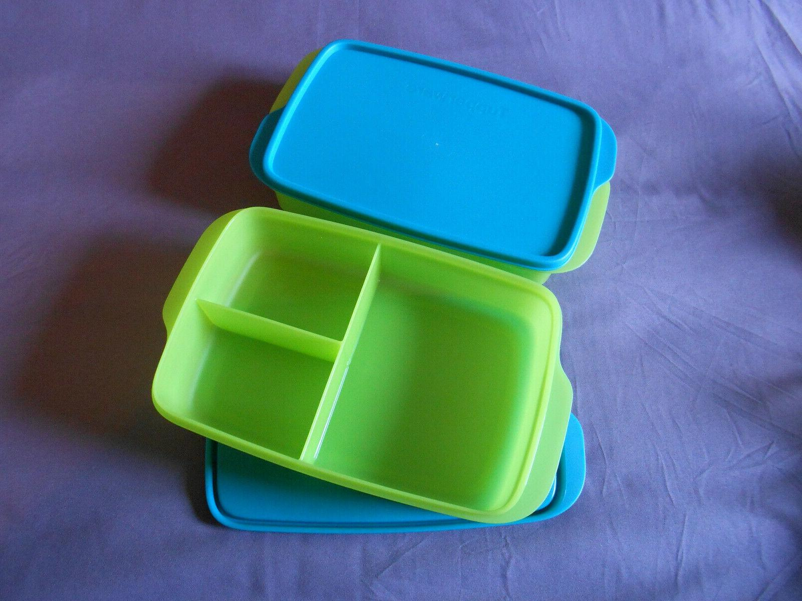 2 large lunch it divided containers bento