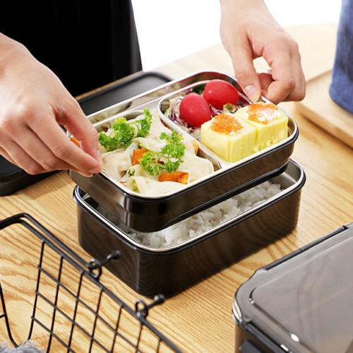 2 Layers Stainless Steel Thermal Insulated Box Bento
