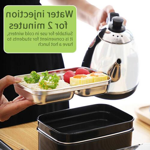 2 Stainless Thermal Bento Food