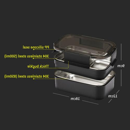 2 Layers Stainless Thermal Insulated Bento Food Container