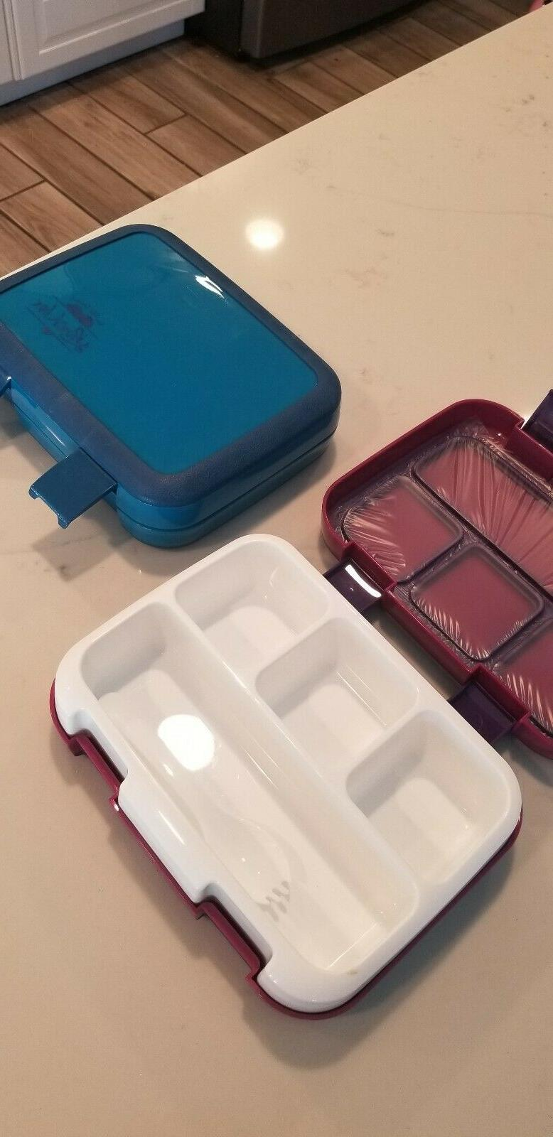 2 Bento Lunch 4-Compartment Meal Prep