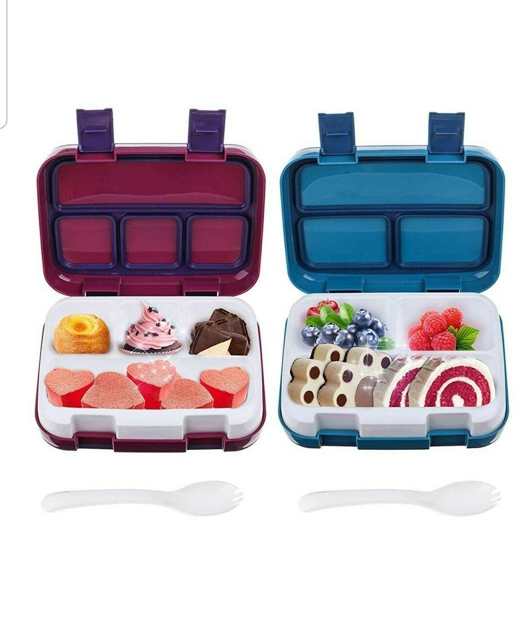 2 pack bento box lunch boxes bpa