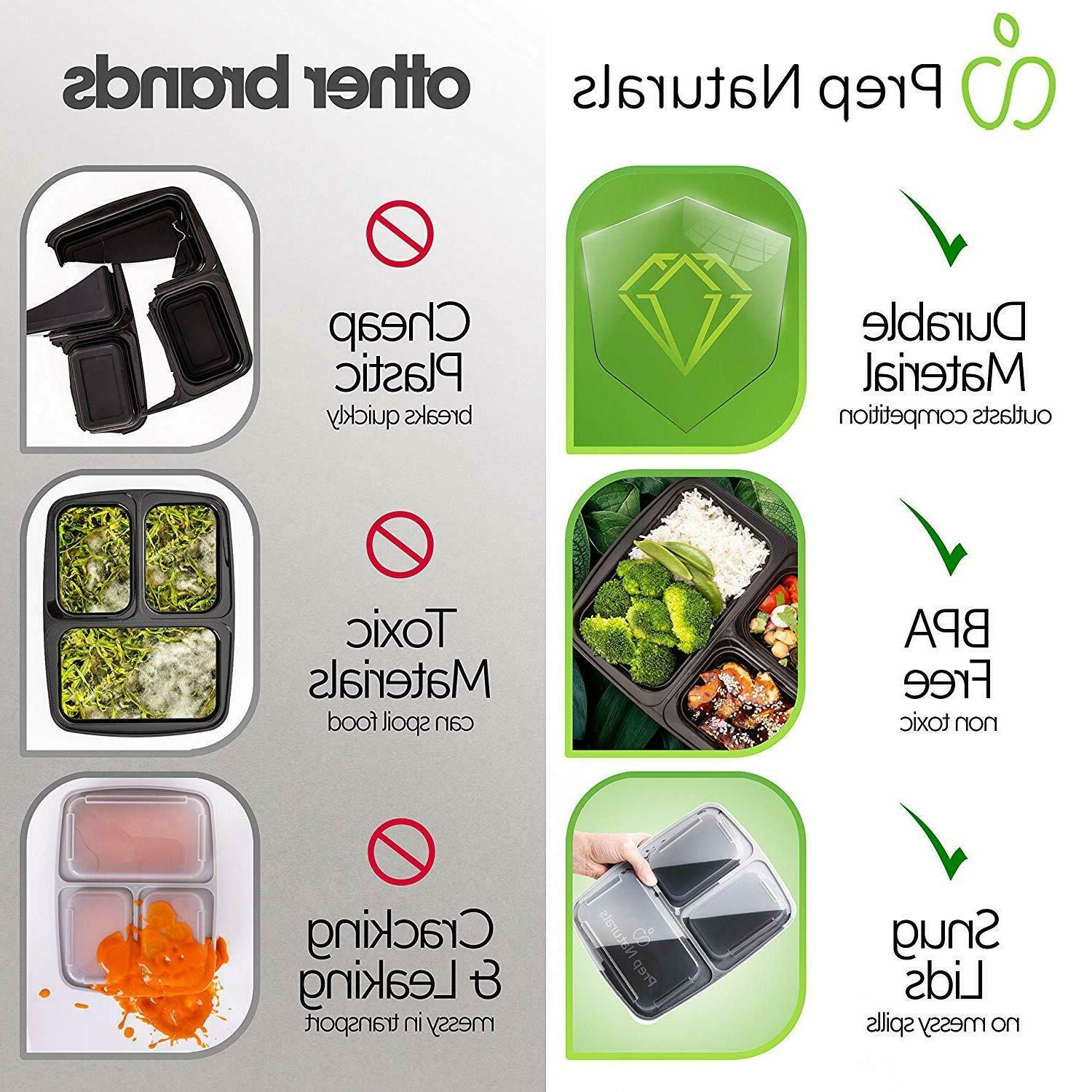 15 Containers 3 StorageReusable Microwave