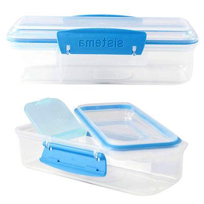 2pk Sistema Lunch Meal Boxes For Kids With Dividers