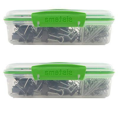 2pk Lunch Meal Prep Containers Lunch Boxes For Dividers