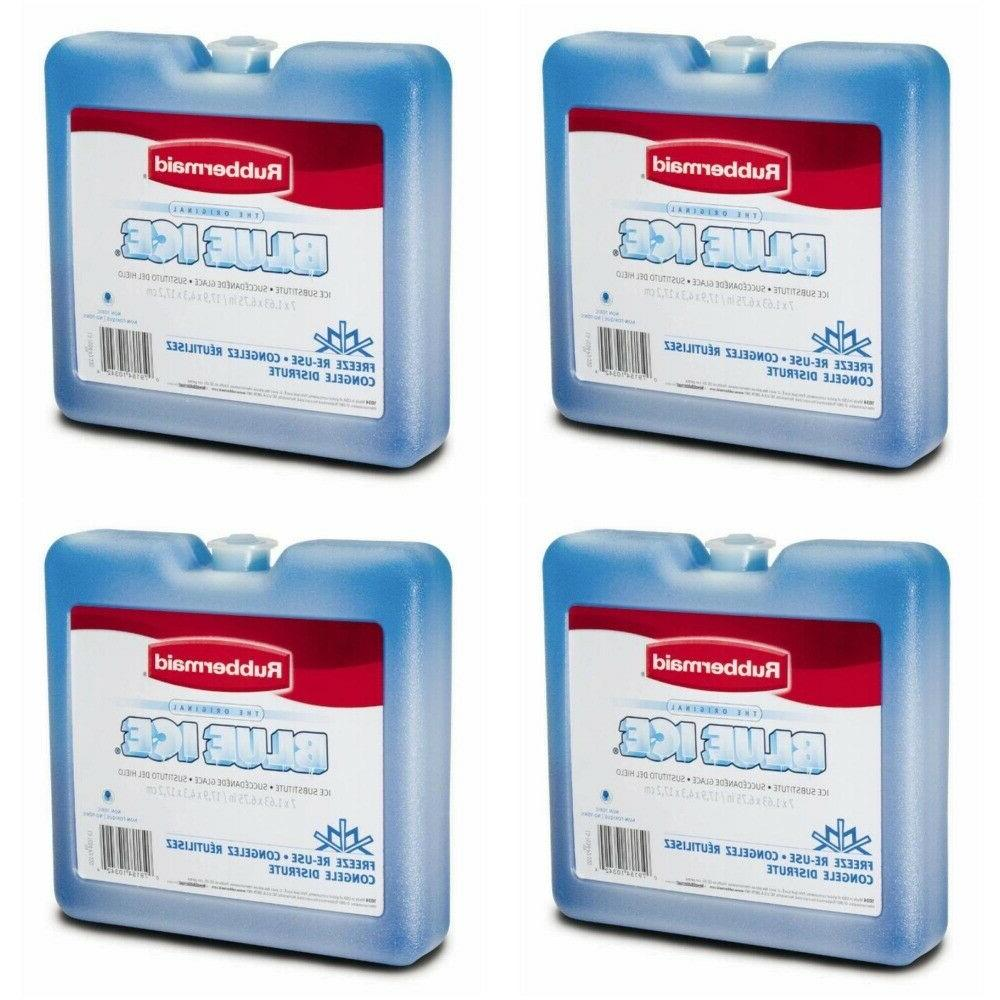"4 PACK Rubbermaid Blue Ice Weekender 7"" x 6.7"" For Cooler Lu"