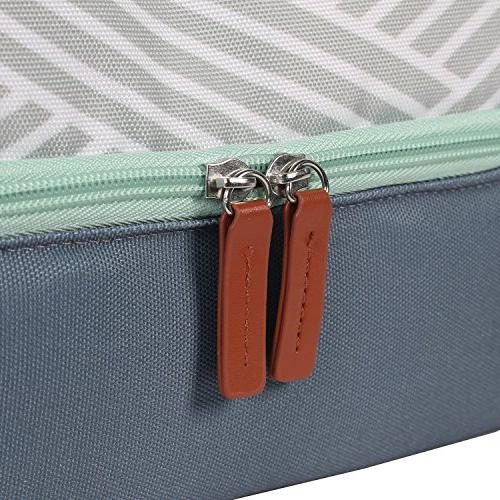 Arctic Insulated Lunch Tote, 2 Compartments, Geo - Gray/White