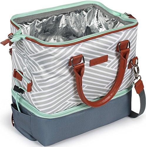 Arctic Zone Thermal Insulated Compartments, - Gray/White