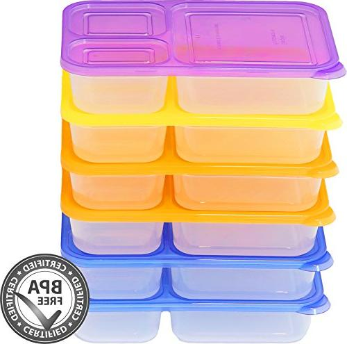 6 - SimpleHouseware 3-Compartment Heavy Lunch Container ounces, 4
