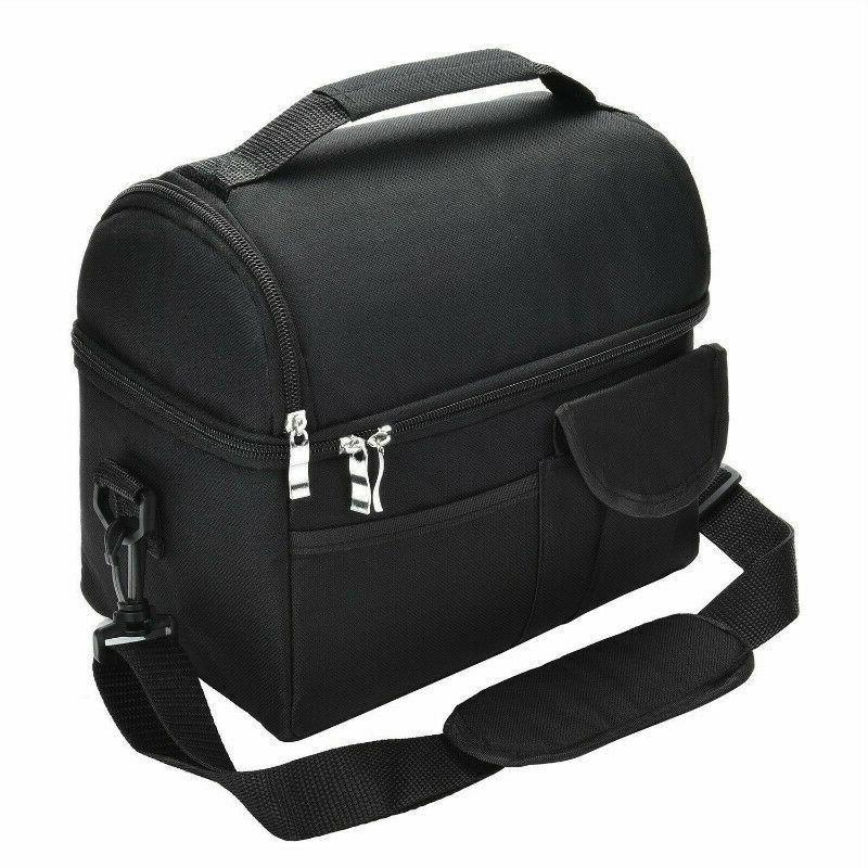 Insulated Lunch Bag For Women Men Kids Thermos Cooler Tote F
