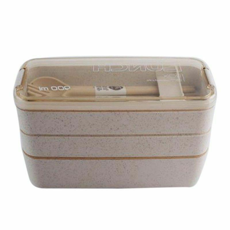 900ml Healthy 3 Wheat Bento Boxes Microwave