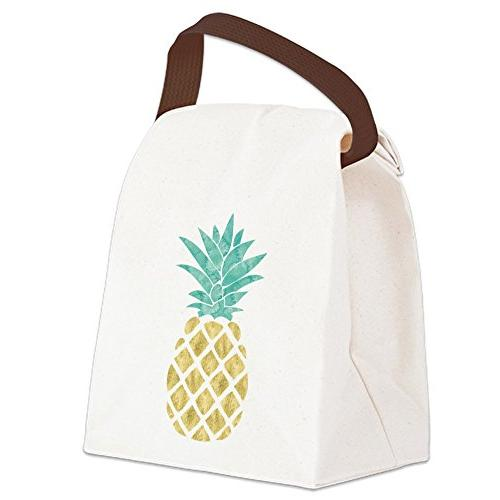 CafePress - Golden Pineapple - Canvas Lunch Bag with Strap H