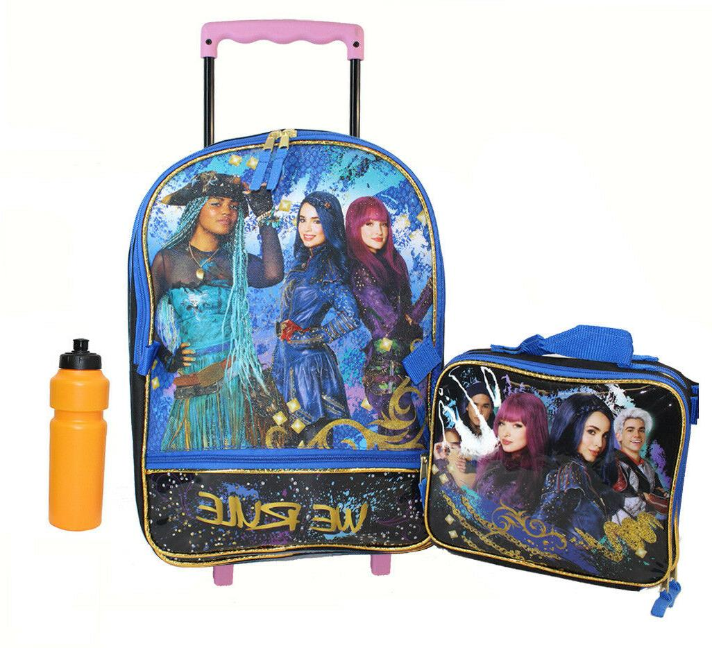 Disney Girls' Descendants Rolling Backpack w Lunch Box Bonus