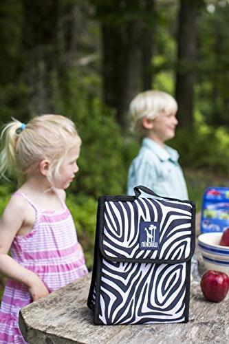Lunch Wildkin Bag, Moisture Easy Folds That Much 3+, Perfect or Parents Zigzag