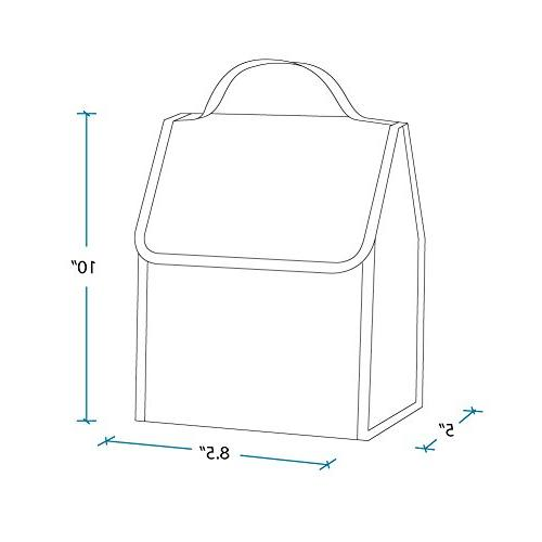 Lunch Bag, Moisture Folds Making Storage That Much Easier, 3+, Perfect for or On-The-Go Parents Zigzag