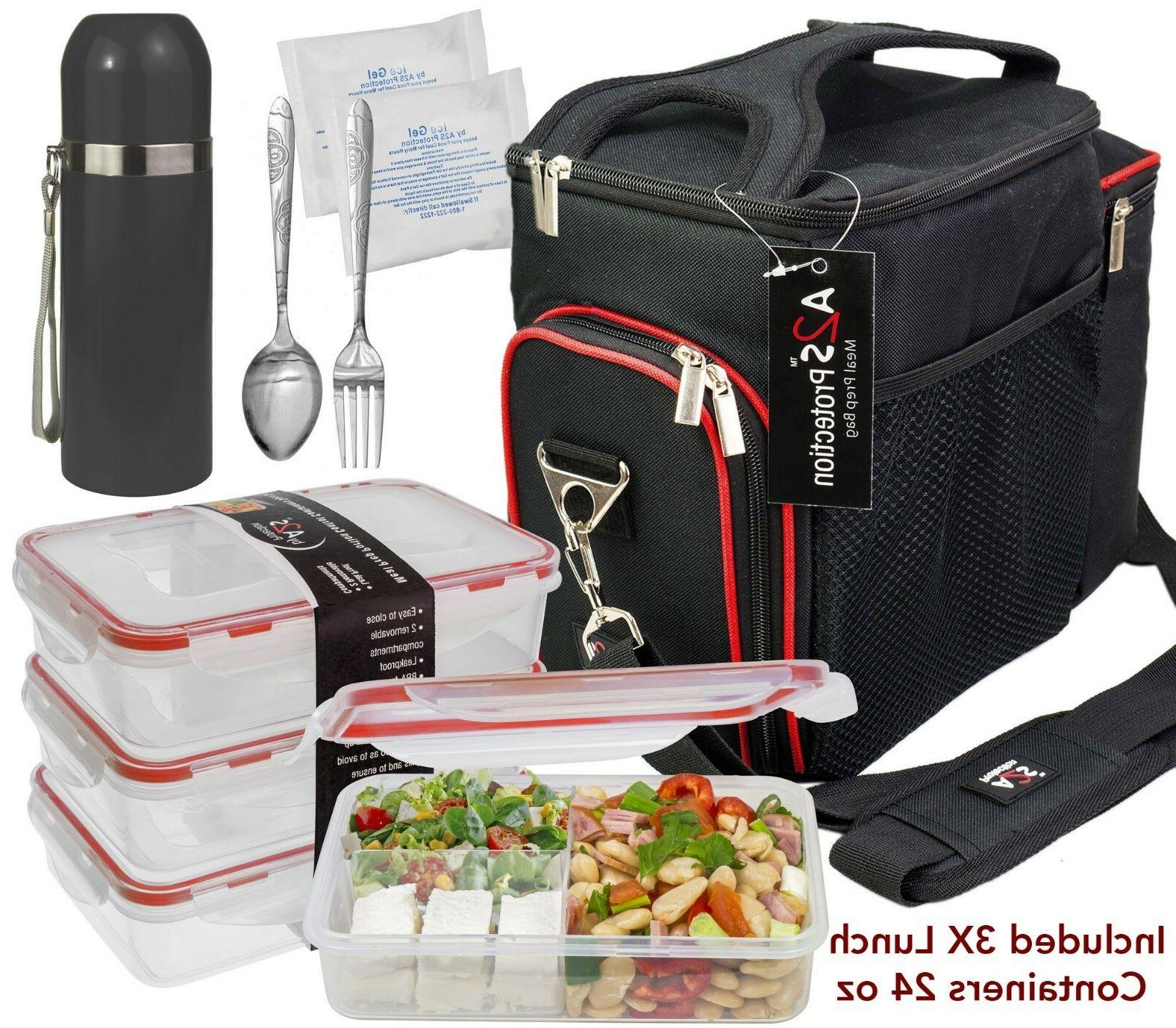 A2S Meal Prep Lunch Box - 8 - Portion Control Lunch Containers