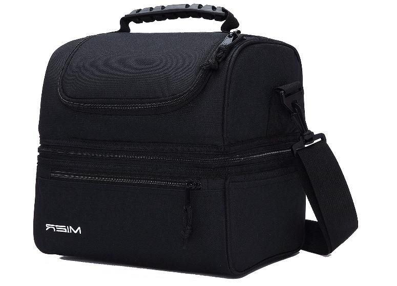 adult lunch box insulated double decker lunch