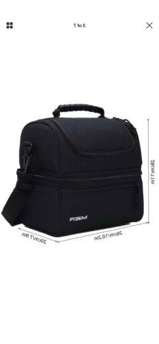 MIER Adult Lunch Box Insulated Bag Cooler Tote Bag Men, Women,