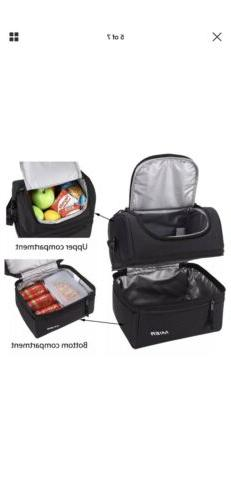 MIER Adult Lunch Box Insulated Lunch Bag Large Cooler Men, Women,