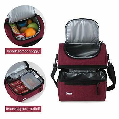 MIER Adult Insulated Lunch Bag Cooler Tote Bag for Men,