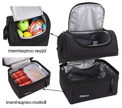 MIER Adult Lunch Insulated Lunch Cooler Tote Men, Women,