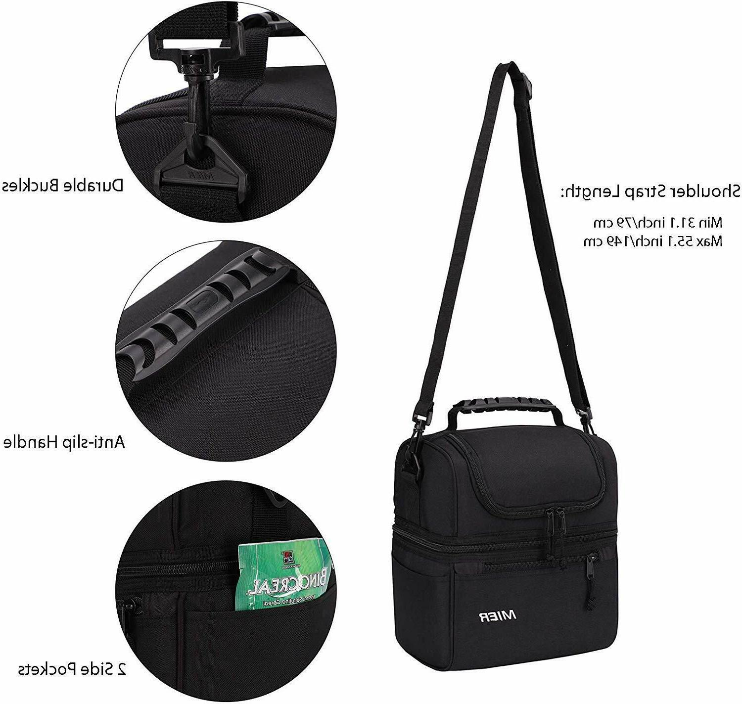 MIER Adult Lunch Insulated Cooler Bag Men, Women,