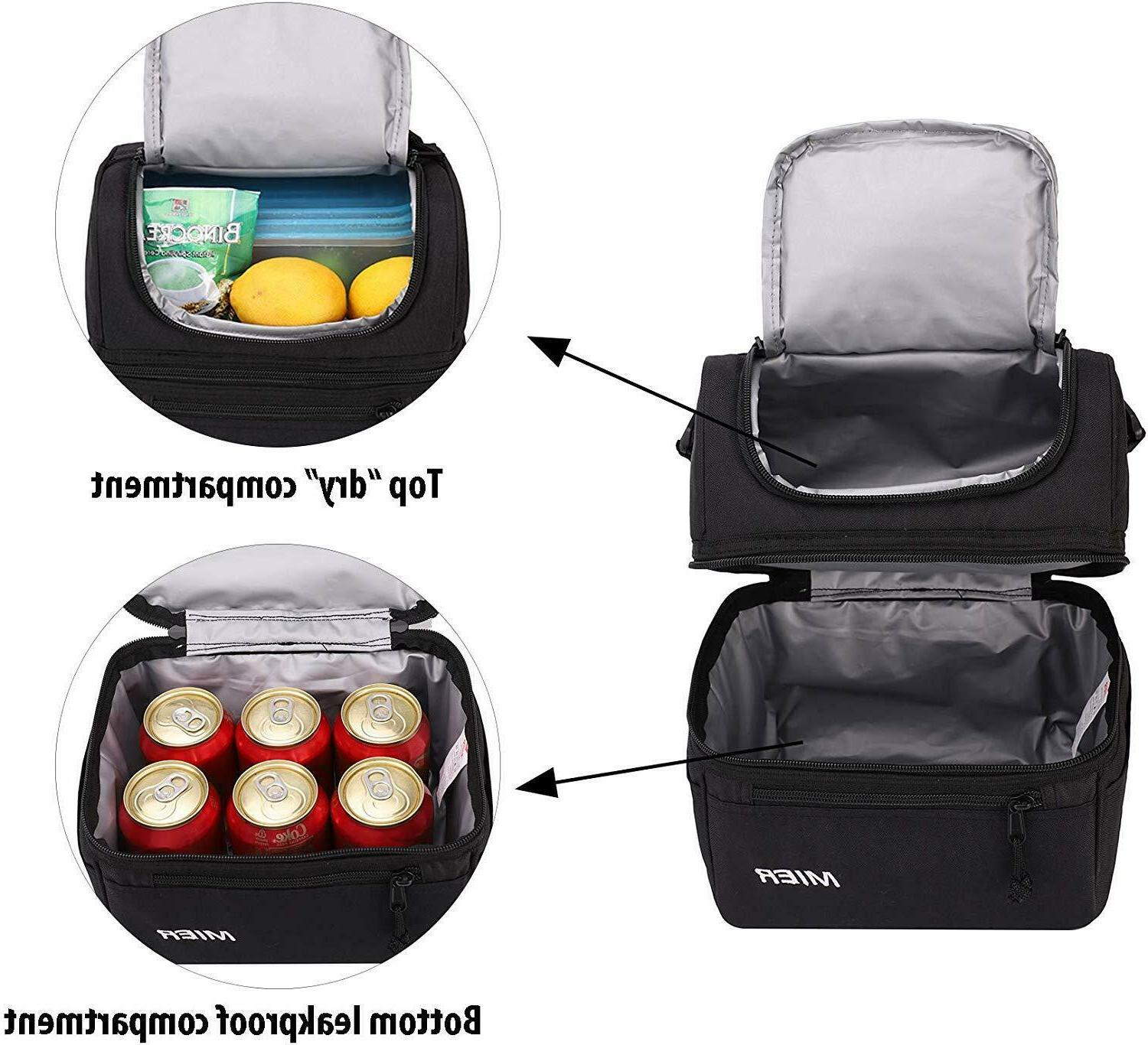 MIER Adult Lunch Box Insulated Lunch Large Cooler Tote for Men, Women,