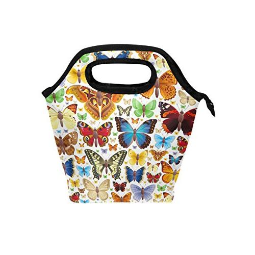 animal butterfly insulated zipper lunch