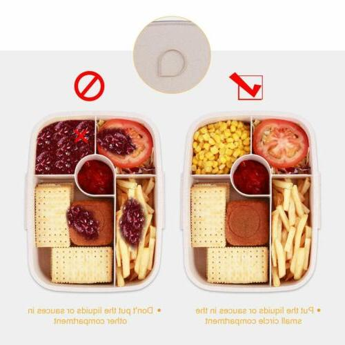 Bento Lunch Food Container with Fork