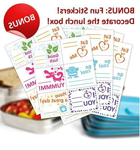 Bento Food Container In 1. Stainless Steel Lids. Healthy Kids Outdoor FREE Fun & BPA Free