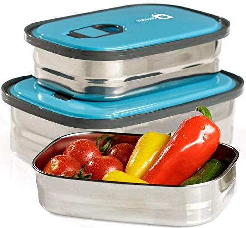 Bento Food Container Storage In 1. Leak Stainless Lids. Healthy Takeaway Kids Adults Fun Decorative Stickers. BPA