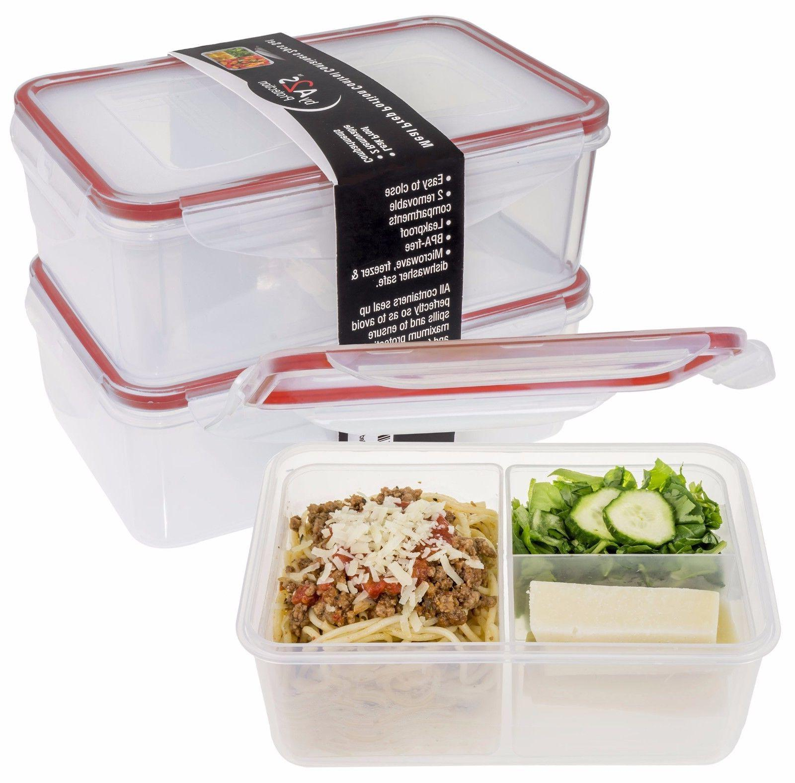 A2S Protection Box 2pcs Prep Containers Microwavable -