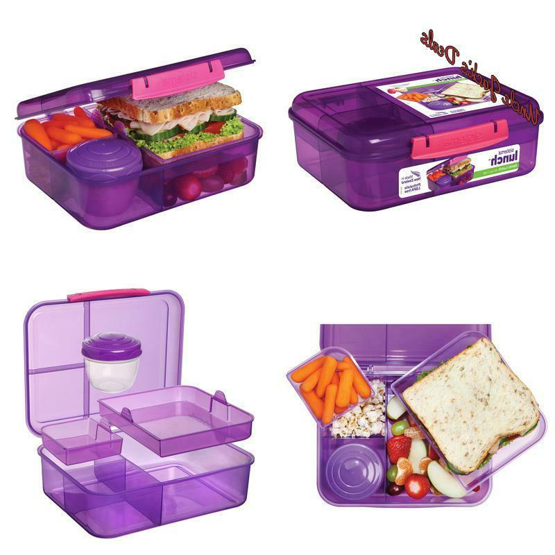bento lunch to go lunchbox purple