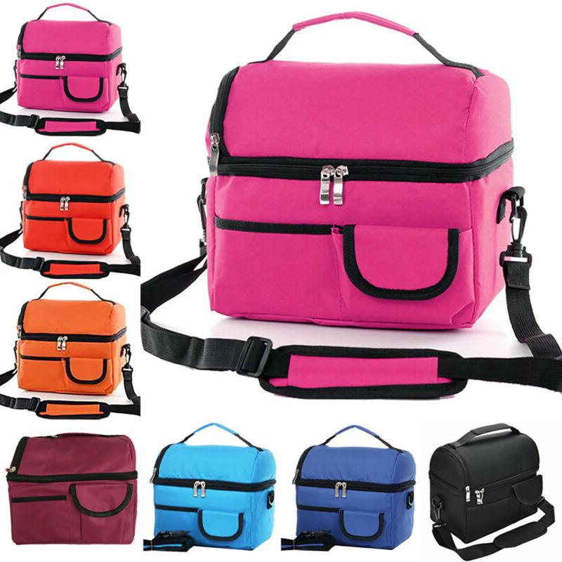 thermal insulated picnic travel cool lunchbox office