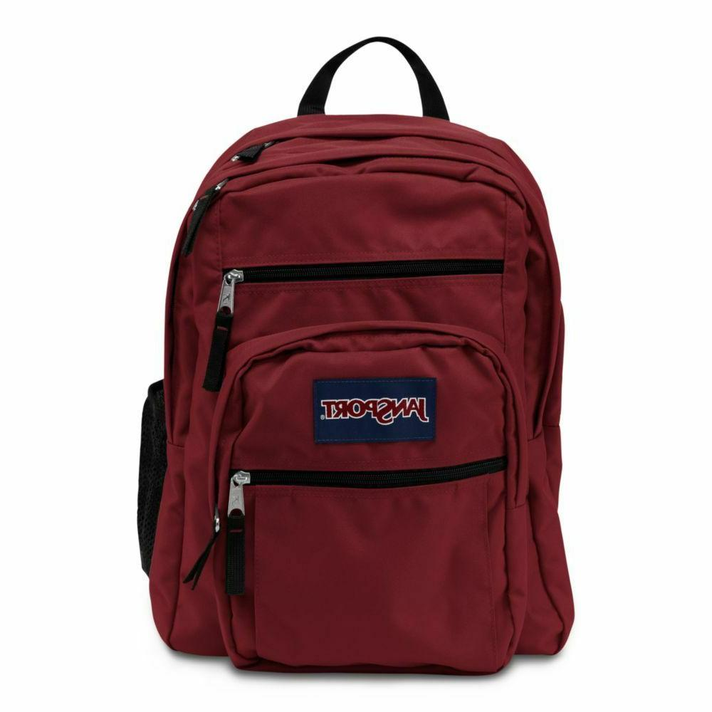 big student backpack viking red with laptop