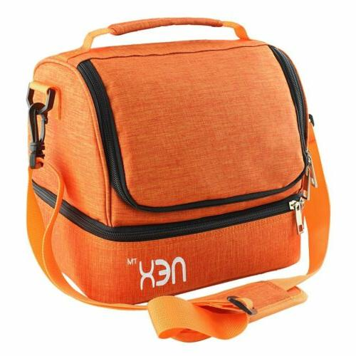 NEX Insulated Lunch Totes Lunch Box Orange School