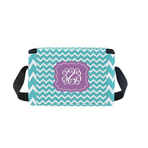 ALIREA Monogram Lunch Bag Reusable with Adjustable Shoulder Strap Women