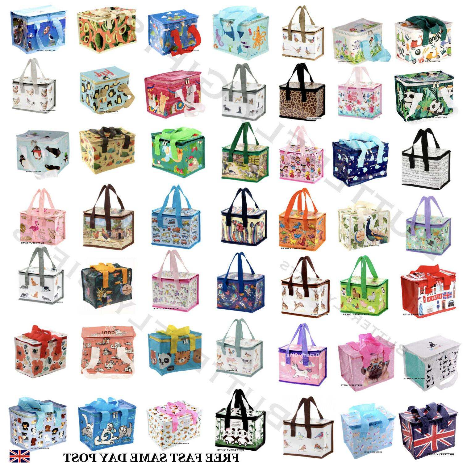 Children's Kids Adult Lunch Bags Insulated Cool Bag Picnic B